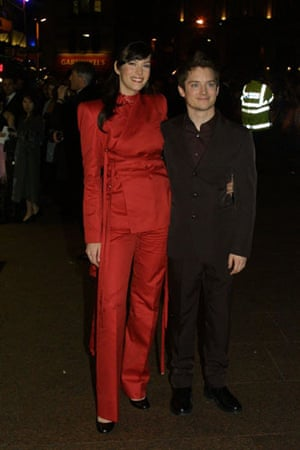 Short men: Elijah Wood and Liv Tyler at the Fellowship of the Ring premiere