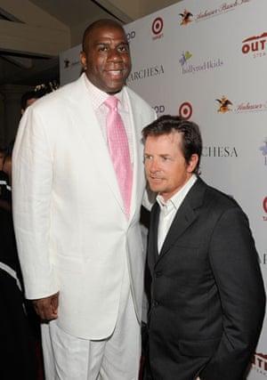 Short men: Michael J. Fox and Magic Johnson attend HollyRod Foundation event