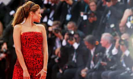 Eva Mendes attends the opening ceremony for the Venice Film Festival 2009
