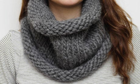 How To Make A Chunky Snood Life And Style The Guardian
