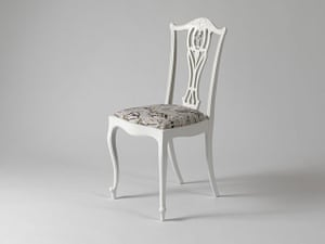 Lab craft: Timorous Beasties – Chair upholstered with 'White Moth All Over'
