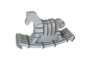 Christmas gifts kids : Flatpack rocking horse