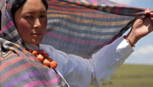 Drylands fashion: Drylands fashion: model with scarf Norlha