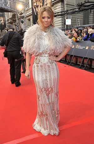 The Baftas red carpet: Kimberley Walsh at the Baftas