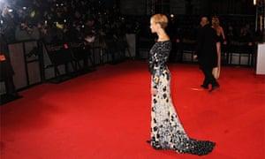 Carey Mulligan on the Baftas red carpet