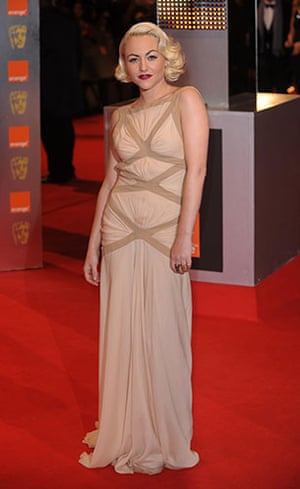 The Baftas red carpet: Jamie Winstone at the Baftas 2010
