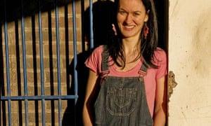 Lauren Cochrane wearing dungarees