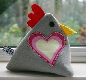 Handmade Valentine's: Doorstop