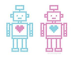 Handmade Valentine's: Cross-stitched card