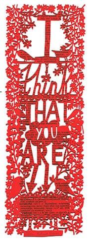 Handmade Valentine's: Lazor-cut print