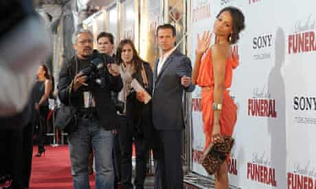 Zoe Saldana at the premiere of 'Death At A Funeral'