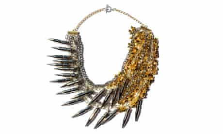 Kabiri spikes and chains Moonage Daydream Necklace by Assad Mounser