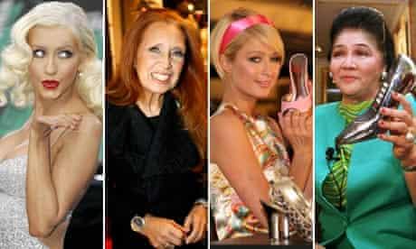 Christina Aguilera, Danielle Steel, Paris Hilton and Imelda Marcos