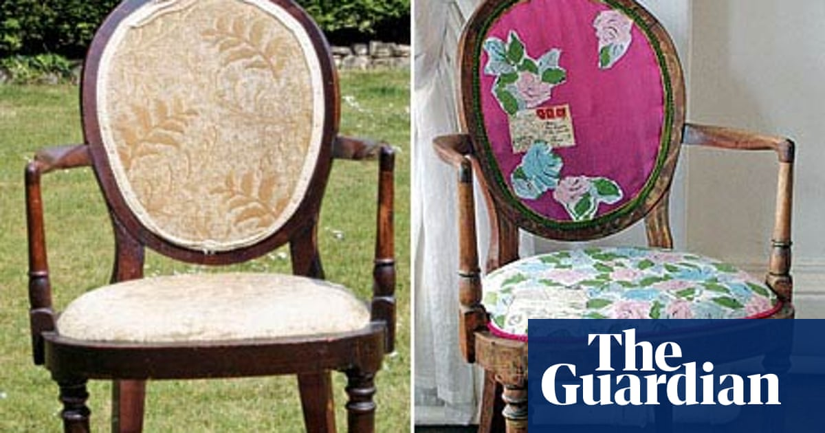 How To Reupholster A Chair Diy The, How To Reupholster A Chair With Wooden Arms