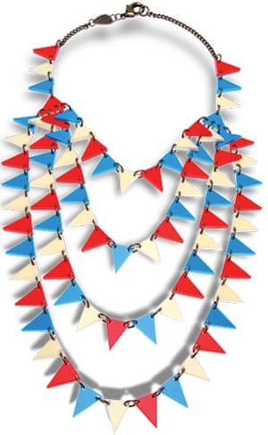 Wish list: Seaside: Seaside bunting necklace