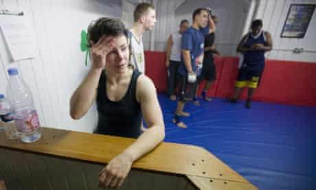 Rachel Dixon at an MMA training session