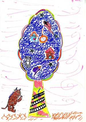 Fantasy tree drawings: Fantasy tree drawing competition: Bella Hudd