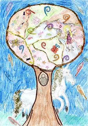 Fantasy tree drawings: Fantasy tree competition