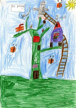 Fantasy tree drawings: Fantasy tree drawings