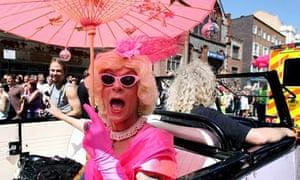 The Gay Pride parade in Brighton, 2007