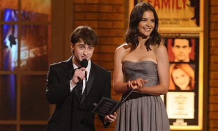 Daniel Radcliffe and Katie Holmes at the Tony Awards