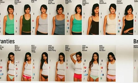 American Apparel styles on a poster