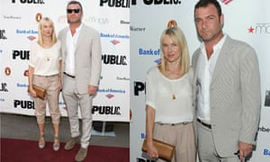 Naomi Watts and Liev Schreiber at the 2010 Public Theater Gala in New York