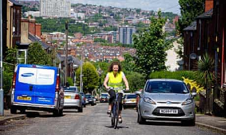 Wendy Melia out on her bike in Sheffield
