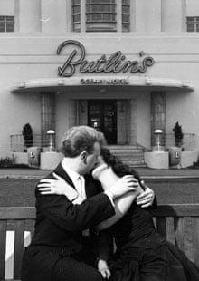 A couple kissing on honeymoon in Saltdean
