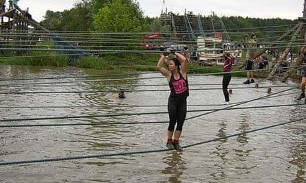 Rope crossing during Tough Guy: Nettle Warrior