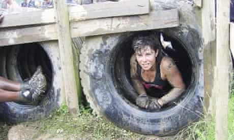 Tyre crawl during Tough Guy: Nettle Warrior