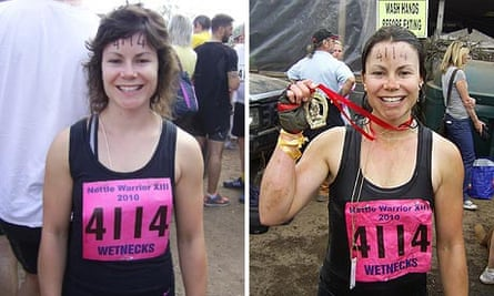 Before and after Tough Guy: Nettle Warrior