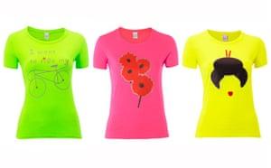 Women's cyclewear: Fluorescent T-shirts