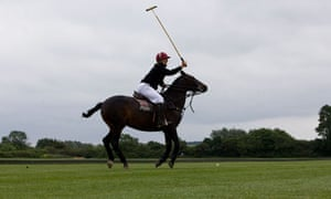 Kim Lomax playing polo