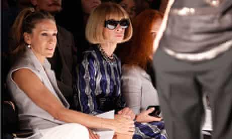 Sarah Jessica Parker Anna Wintour at New York fashion week
