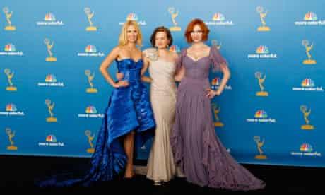 January Jones, Elisabeth Moss and Christina Hendricks of Mad Men at the Emmy Awards