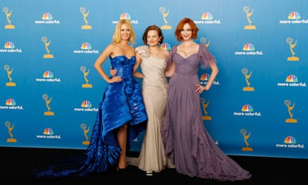 January Jones, Elisabeth Moss and Christina Hendricks of Mad Men at the Emmy Awards