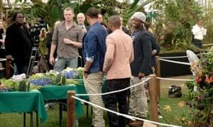 JLS learn flower arranging at the Chelsea Flower Show 2011