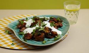 Moroccan spiced aubergine
