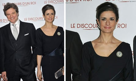Livia and Colin Firth at the Paris premiere of The King's Speech