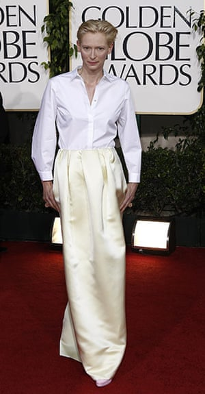 Golden globes fashion: Golden Globes fashion, Tilda Swinton