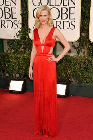 Golden globes fashion: Golden Globes fashion, January Jones