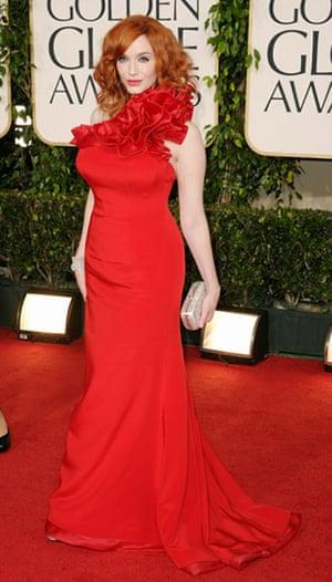 Golden globes fashion: Golden Globes fashion, Christina Hendricks