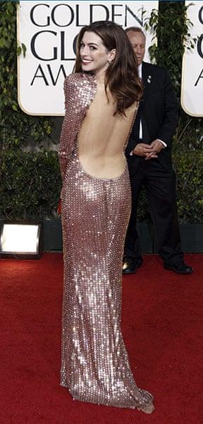 Golden globes fashion: Golden Globes Anne Hathaway