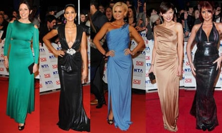 Actors on the red carpet at the National Television Awards
