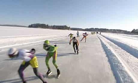 Kuopio ice skating race