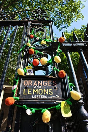 Knit the City: Oranges and Lemons Odyssey