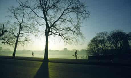 Running in Hyde Park, London