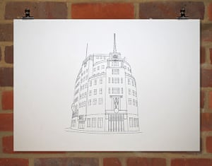Stitch art: BBC Broadcasting House by Peter Crawley