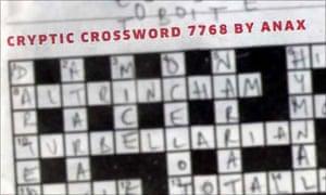 One of Anax's crosswords